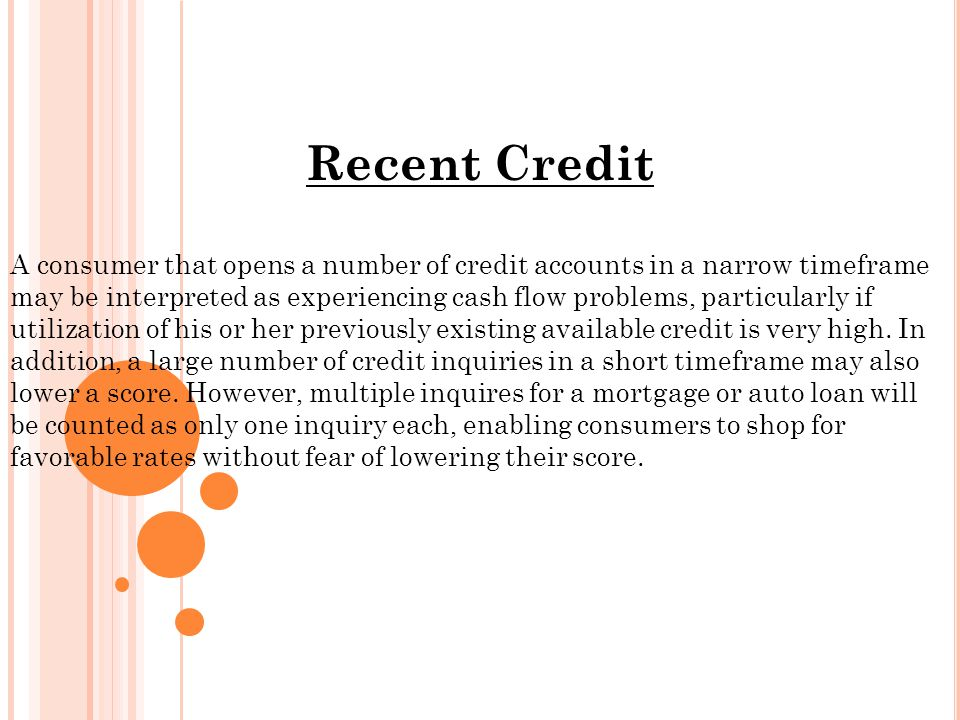 Utilization Having access to credit is one consideration, and how much of that has been tapped into is another.