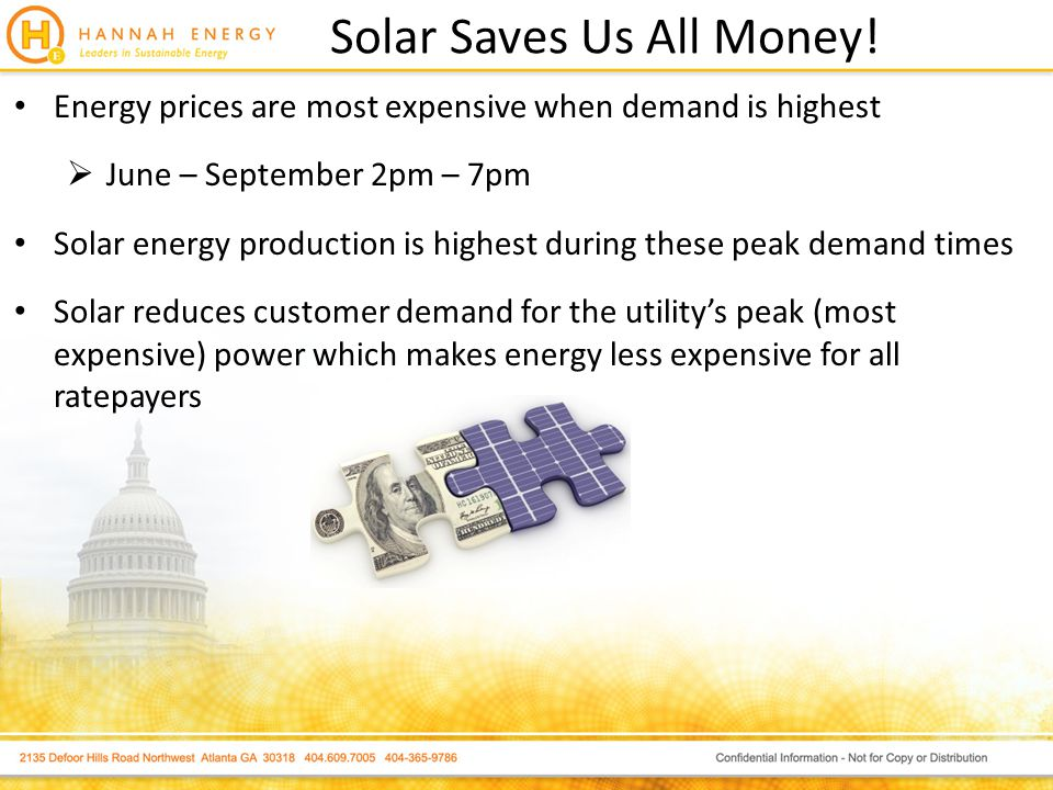 Solar Saves Us All Money.