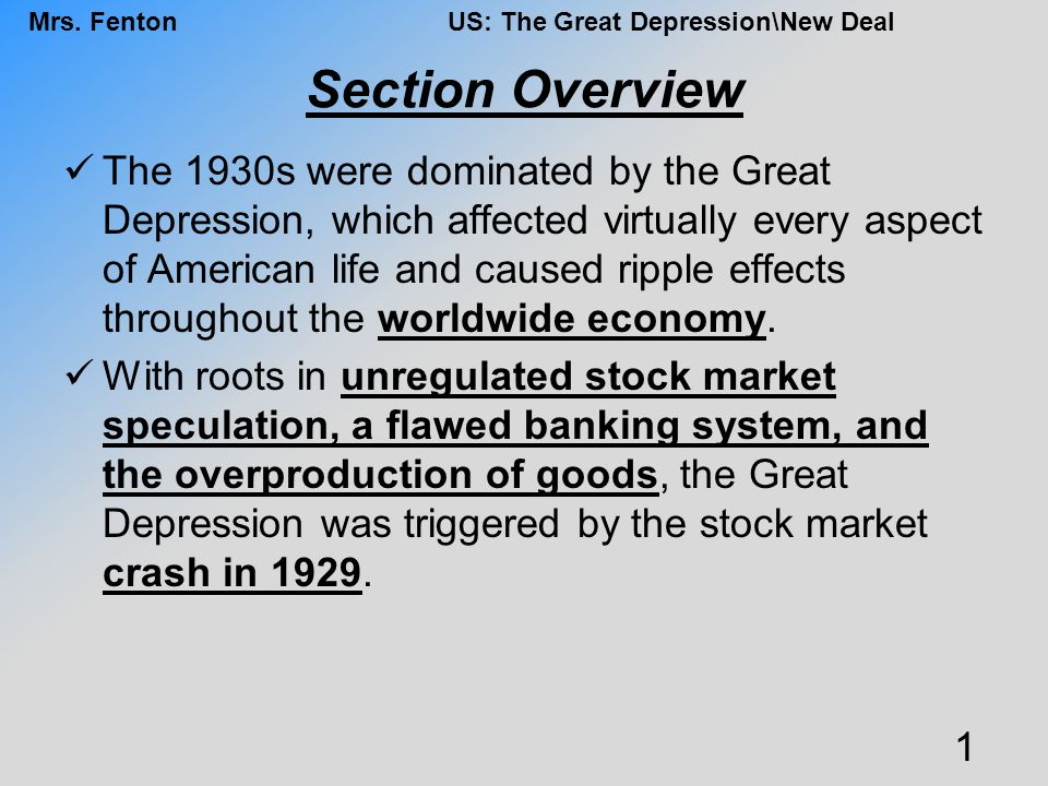 Mrs.FentonUS: The Great Depression\New Deal FDR FDR was controversial.