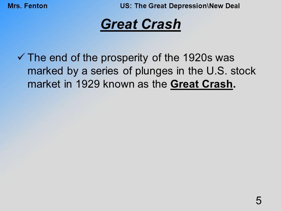 Mrs.FentonUS: The Great Depression\New Deal Works Progress Admin.