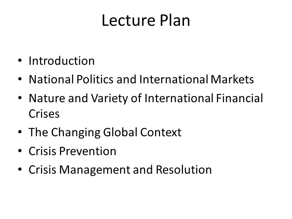 Introduction Financial crises, and especially banking crises, are recurrent phenomena Financial crises began to spread more easily across national borders, with greater interdependence of financial markets, since 1970s and abolition of capital controls The recent series of international financial crises have led many to question the wisdom of financial liberalization