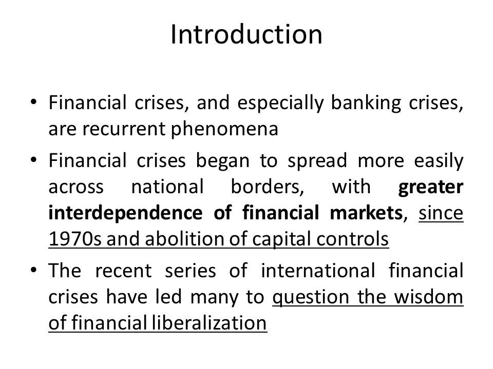 Crisis Prevention (1) All contemporary markets that are legal rest on standards and enforcement procedures associated with government authority International financial crises expose jurisdictional ambiguities and overlaps – Yet, we still do not have an unambiguous global standard-setter or a global agency capable of final enforcement – What we have are selected agencies that coordinate standard-setting and enforcement