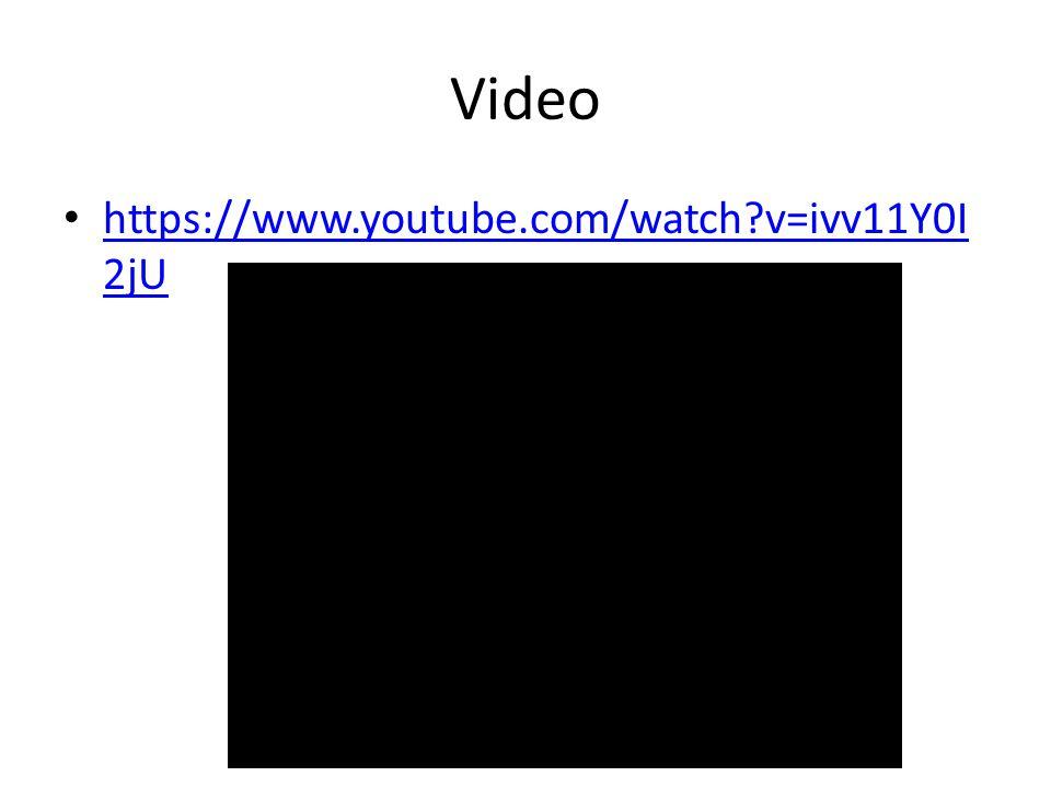 Video https://www.youtube.com/watch v=ivv11Y0I 2jU https://www.youtube.com/watch v=ivv11Y0I 2jU