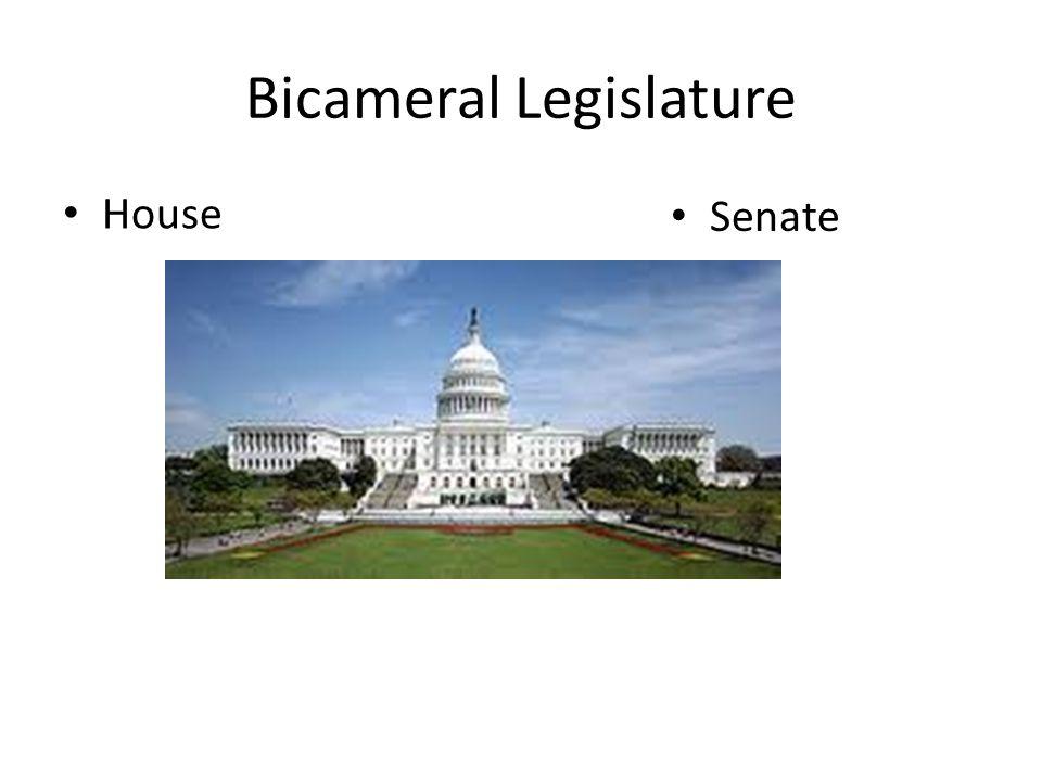Bicameral Legislature House Senate