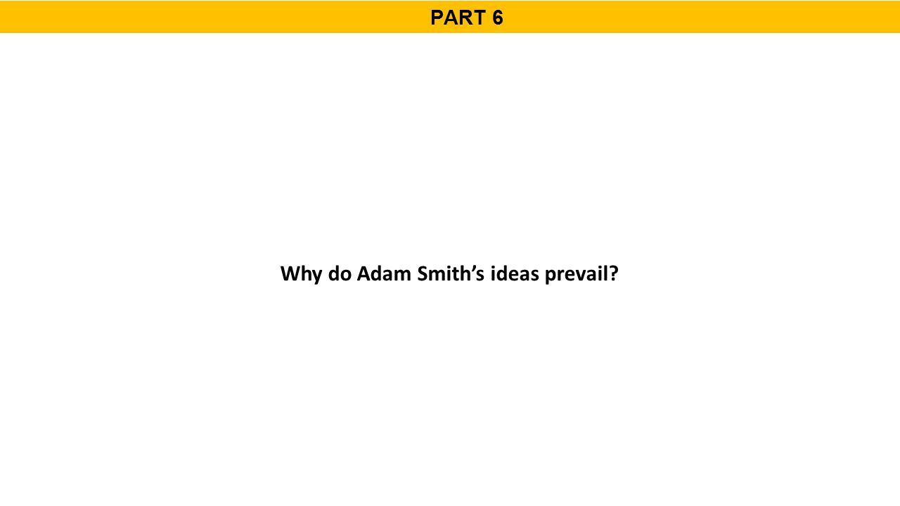 PART 6 Why do Adam Smith's ideas prevail?