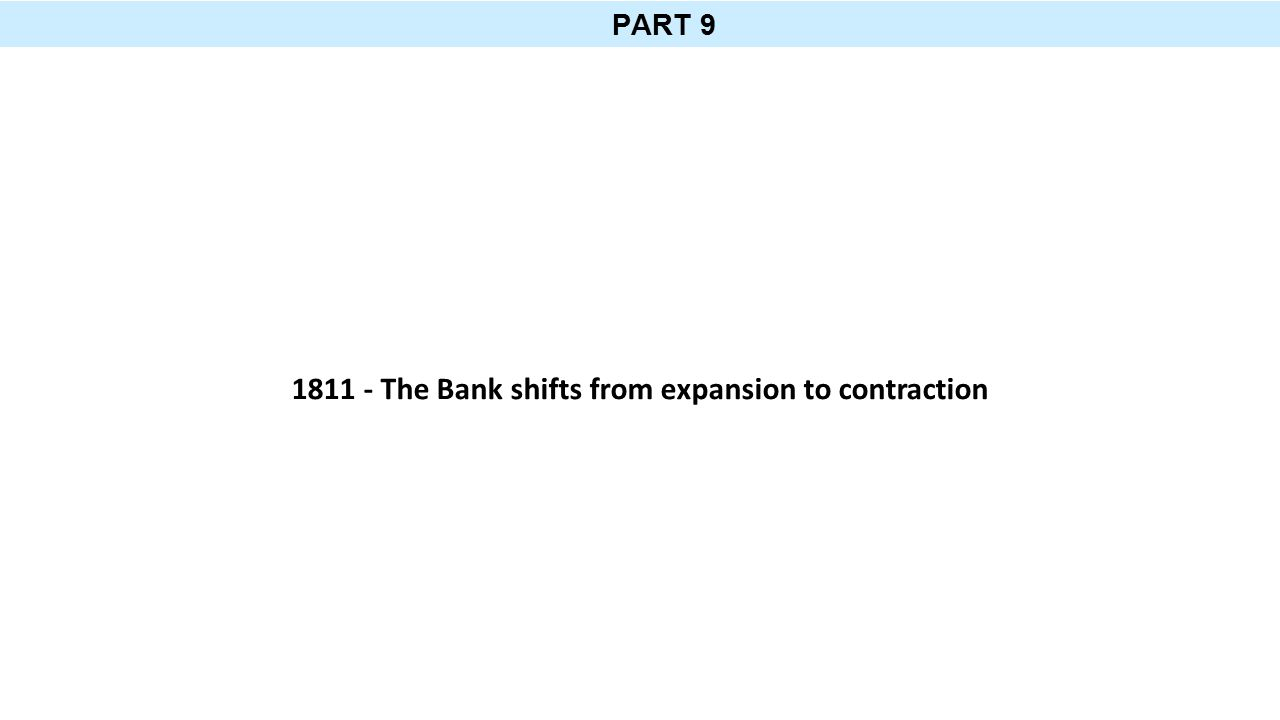 PART 9 1811 - The Bank shifts from expansion to contraction