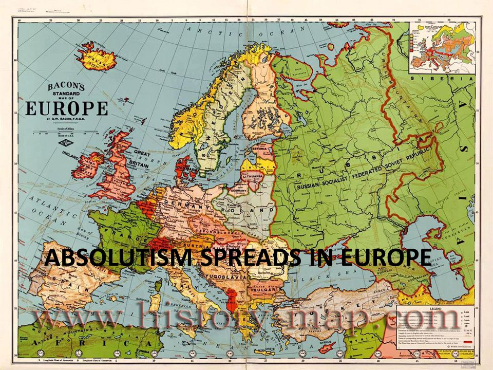 ABSOLUTISM SPREADS IN EUROPE