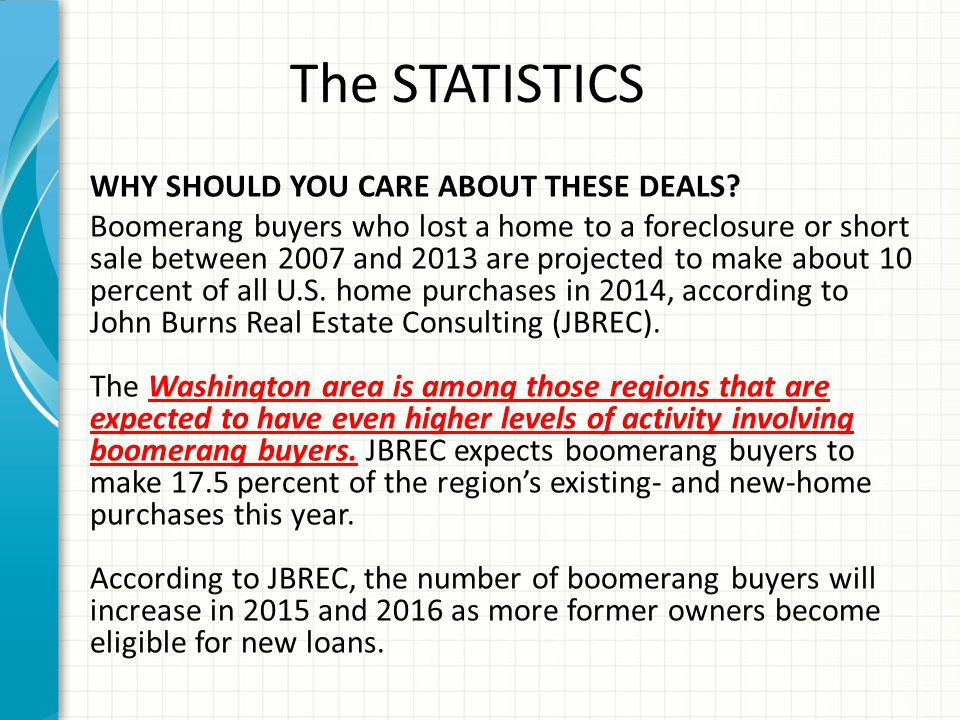 The STATISTICS WHY SHOULD YOU CARE ABOUT THESE DEALS.