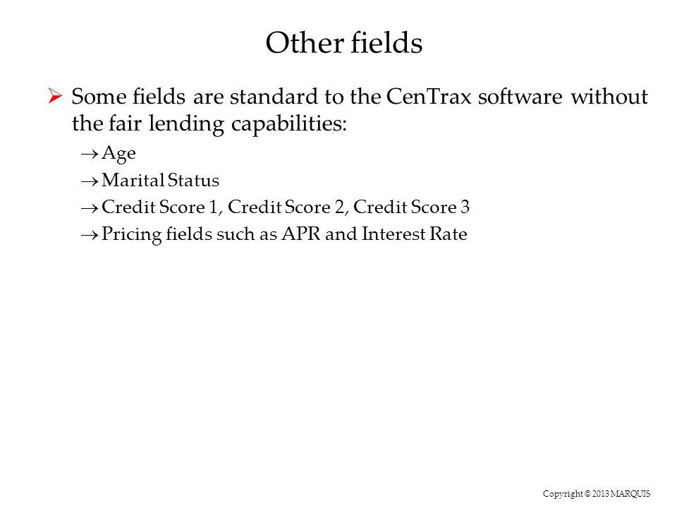 Copyright © 2013 MARQUIS HMDA Threshold Analysis