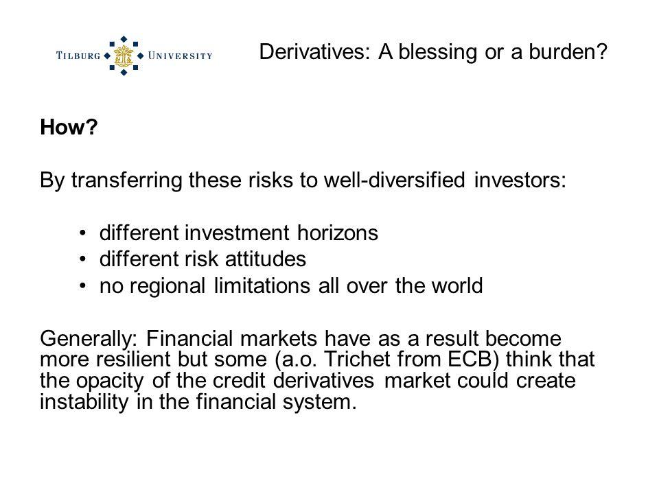 Derivatives: A blessing or a burden. How.
