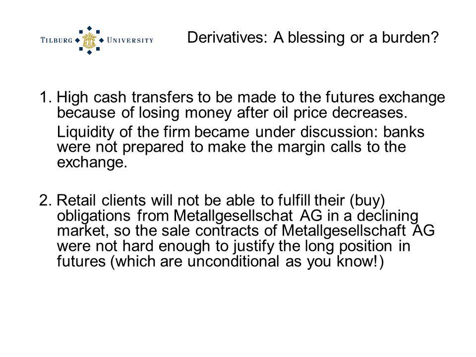 Derivatives: A blessing or a burden. 1.