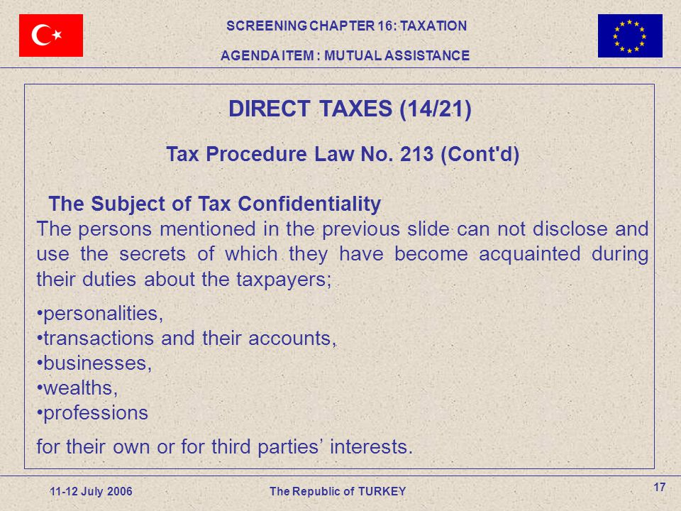 Tax Procedure Law No.