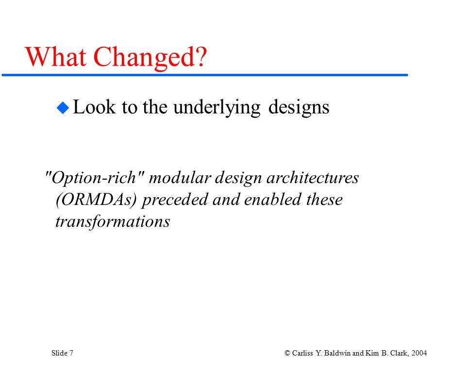 Slide 8 © Carliss Y.Baldwin and Kim B.