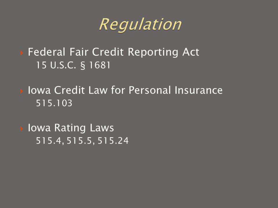  Federal Fair Credit Reporting Act 15 U.S.C.