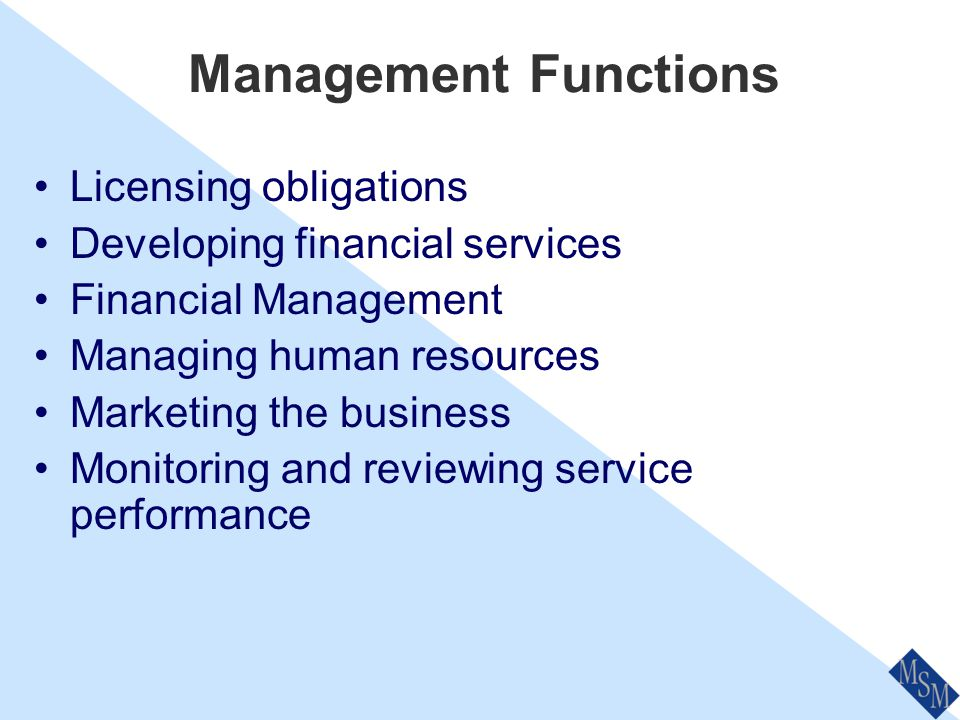 The Management Role No different to business in general Management co-ordinates the activities of others Includes moral and ethical questions Identify