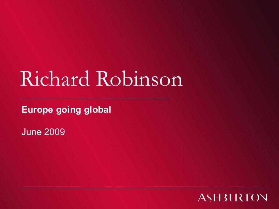 Ashburton Investment Models Richard Robinson Europe going global June 2009
