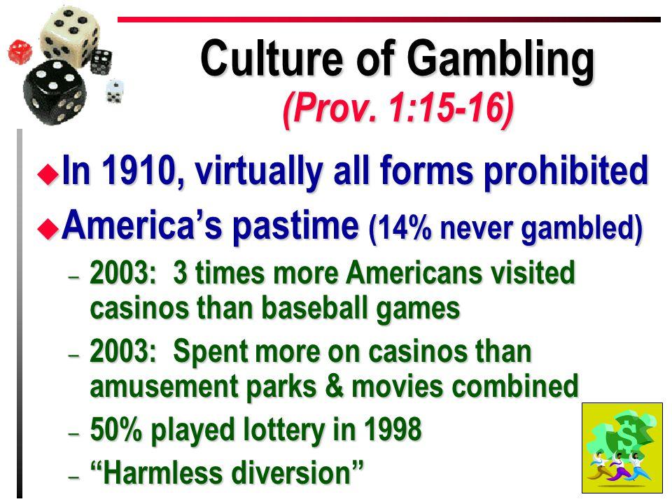 Culture of Gambling (Prov.