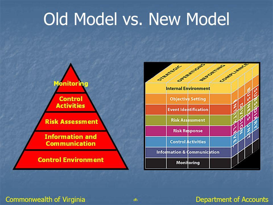50 Department of AccountsCommonwealth of Virginia Old Model vs. New Model
