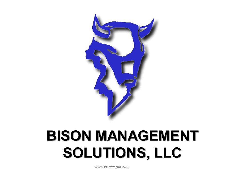 BISON MANAGEMENT SOLUTIONS, LLC www.bisonmgmt.com