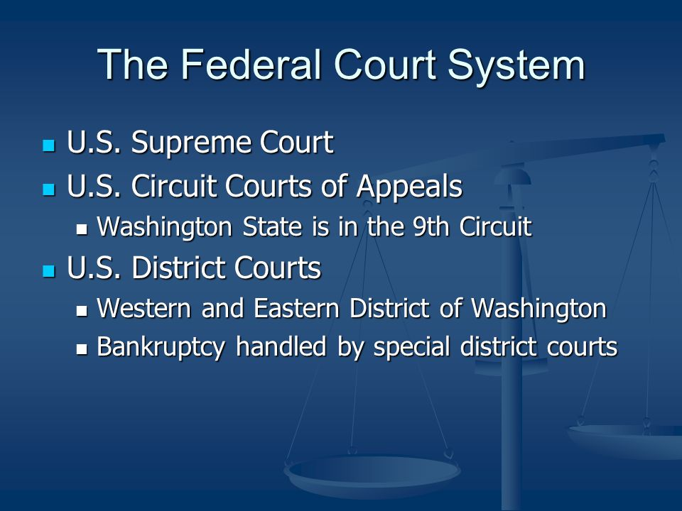 The Federal Court System U.S. Supreme Court U.S. Supreme Court U.S.
