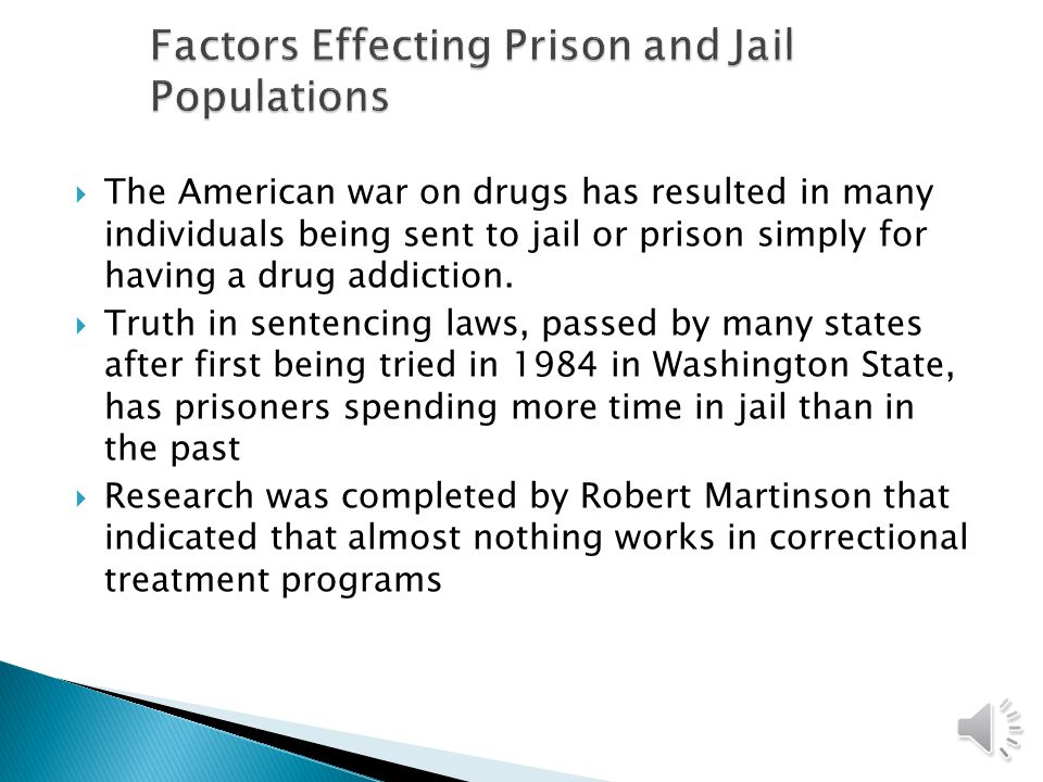  There are currently about 1.6 million people either in jail or prison, or on probation or parole.