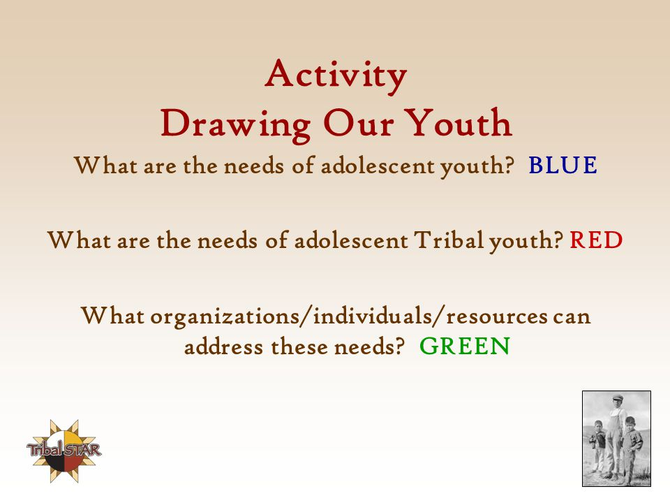 Activity Drawing Our Youth What are the needs of adolescent youth.