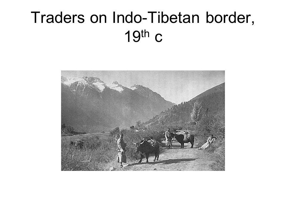 Traders on Indo-Tibetan border, 19 th c