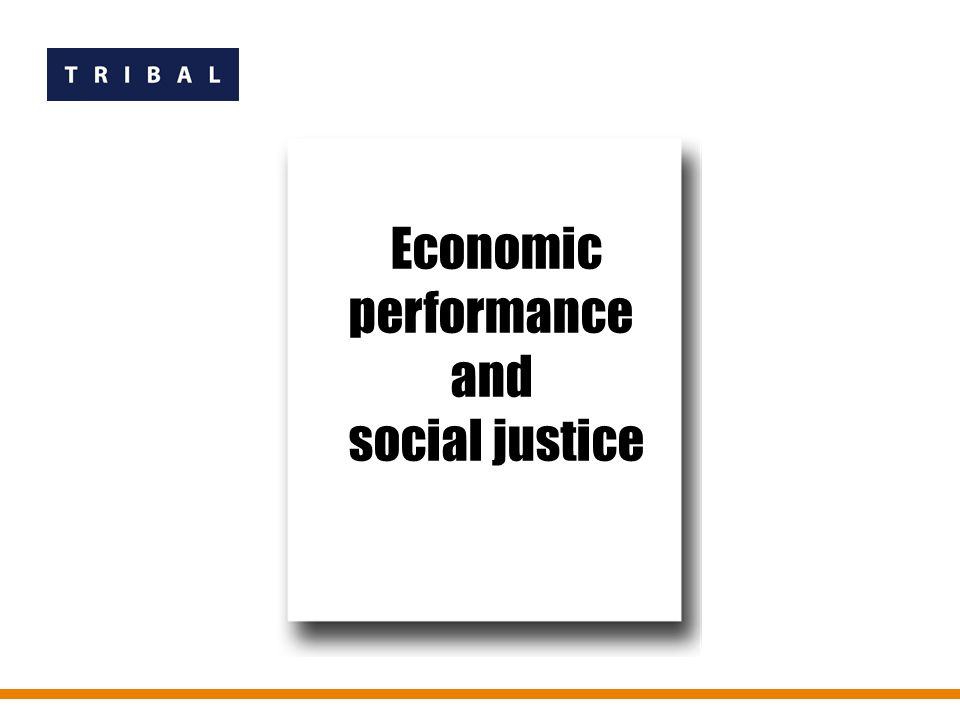 Economic performance and social justice Economic performance and social justice Economic performance and social justice