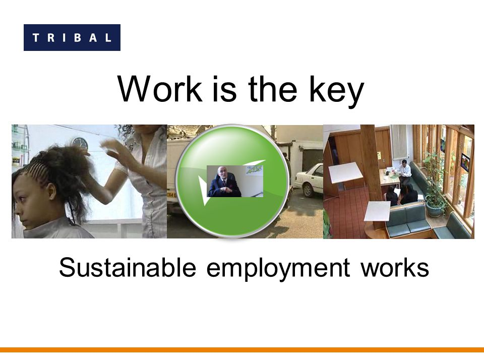 Work is the key Sustainable employment works