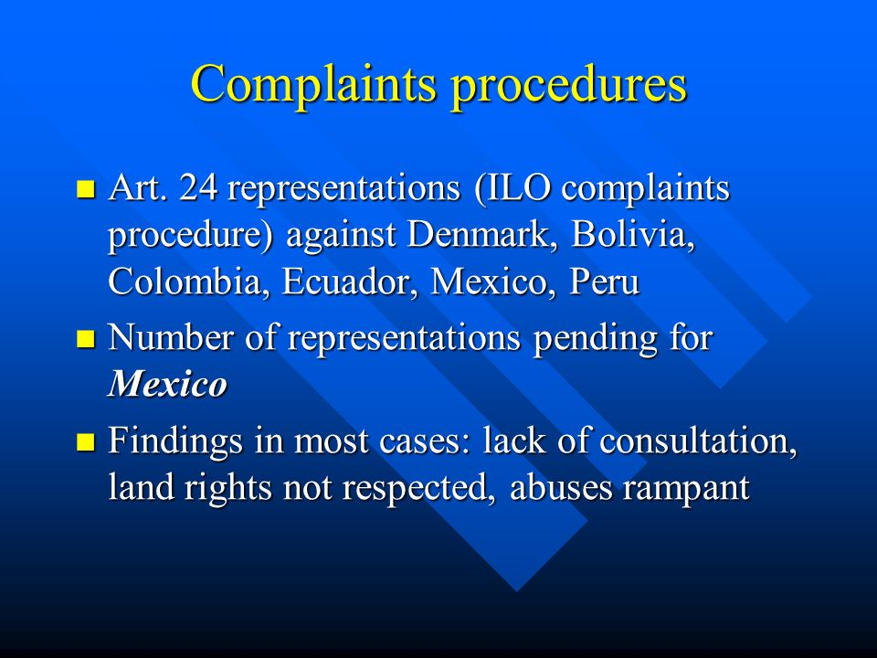 Complaints procedures Art.