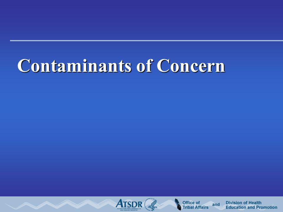 Contaminants of Concern