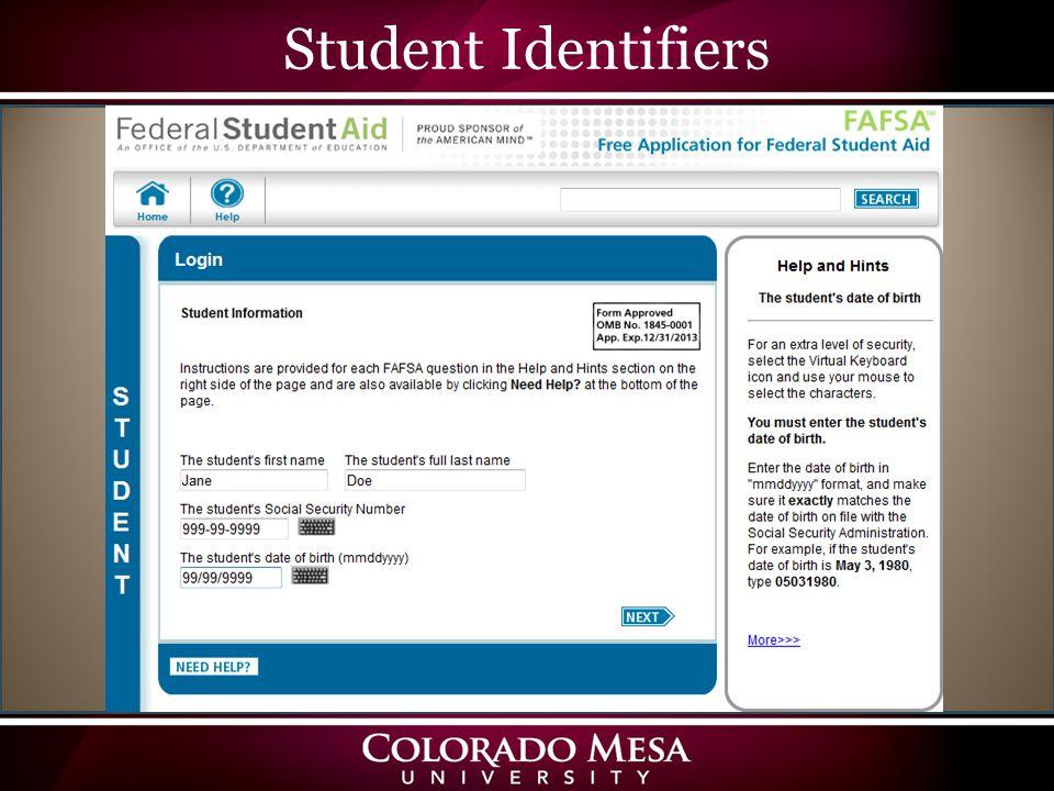 Student Identifiers