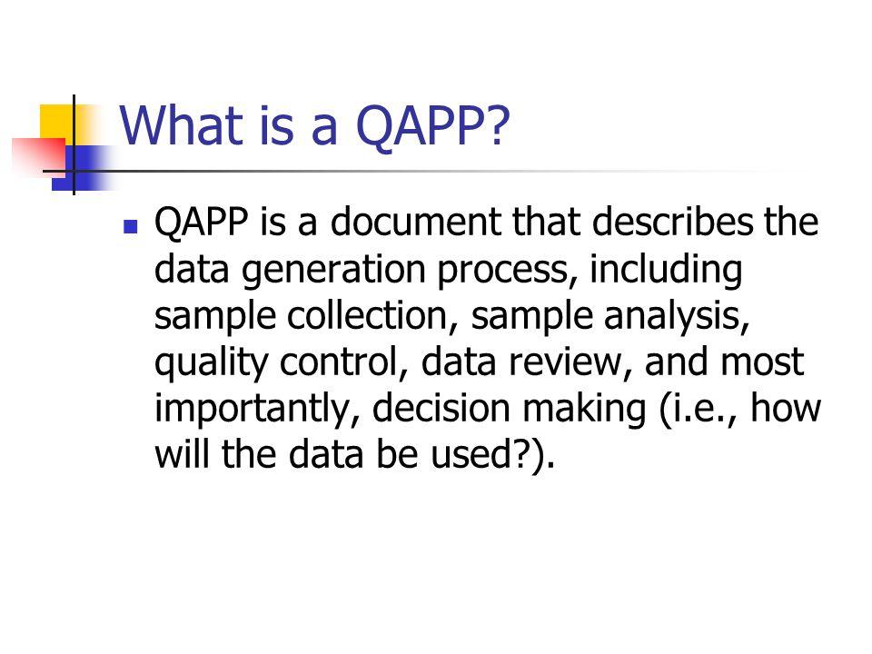 What is a QAPP.