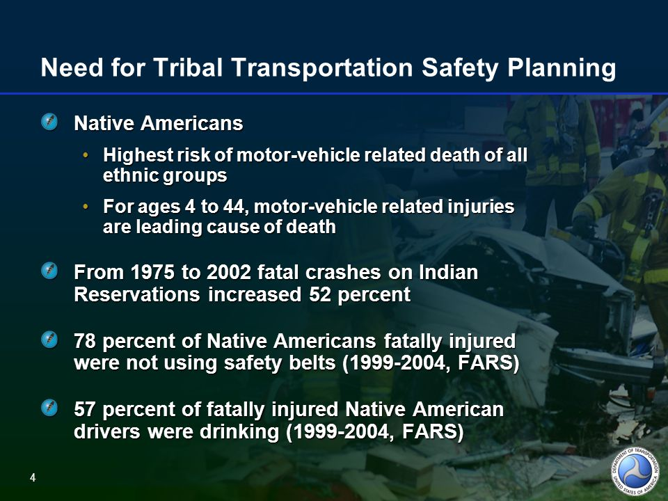 5 Fatally Injured Drivers by Race/Ethnicity and Blood Alcohol Concentration Source: NHTSA, Race and Ethnicity in Fatal Motor Vehicle Crashes, 1999-2004.