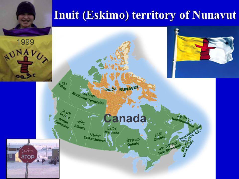 Inuit (Eskimo) territory of Nunavut Canada 1999