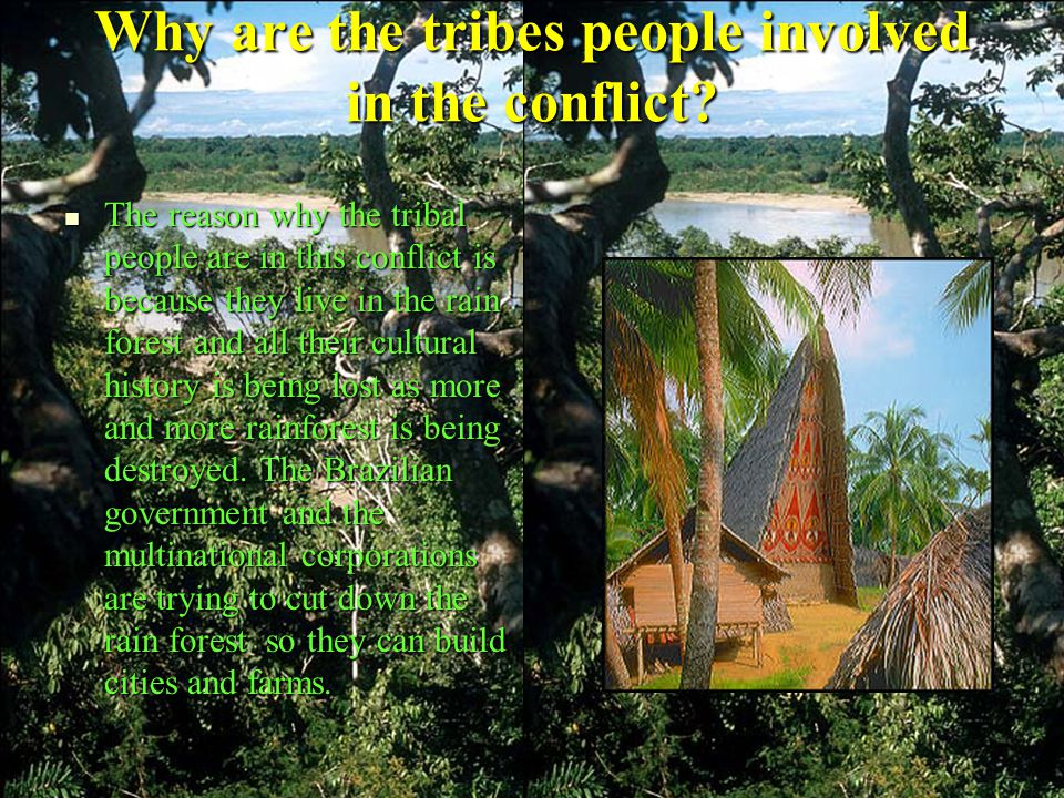 Why are the tribes people involved in the conflict.