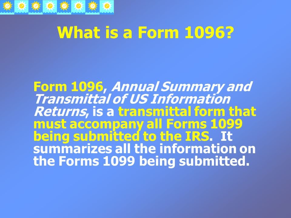 What is a Form 1096.