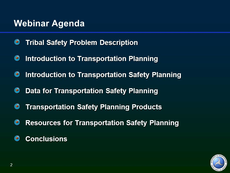 23 Strategic Highway Safety Plans Addresses 4 Es: Engineering, Education, Enforcement and Emergency response Evidence based using safety data Focus on emphasis areas and strategies with greatest potential payoff Involves a wide range of stakeholders in the process including Tribal Governments Includes methods to measure performance