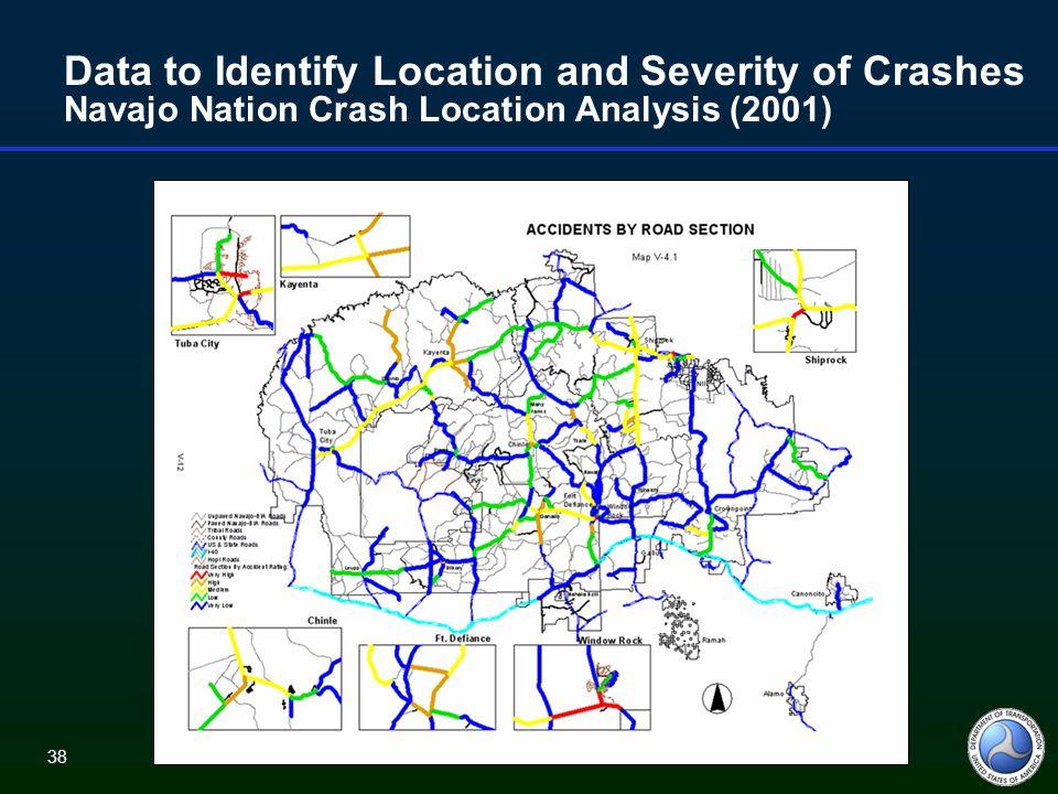 38 Data to Identify Location and Severity of Crashes Navajo Nation Crash Location Analysis (2001)