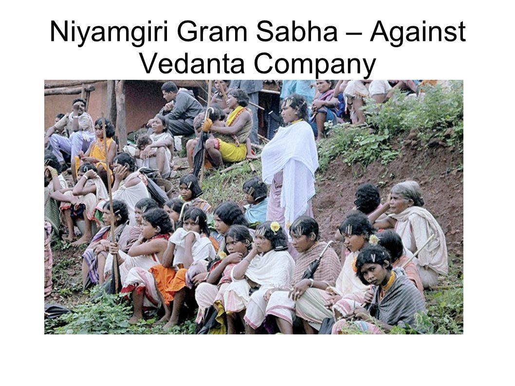 Niyamgiri Gram Sabha – Against Vedanta Company