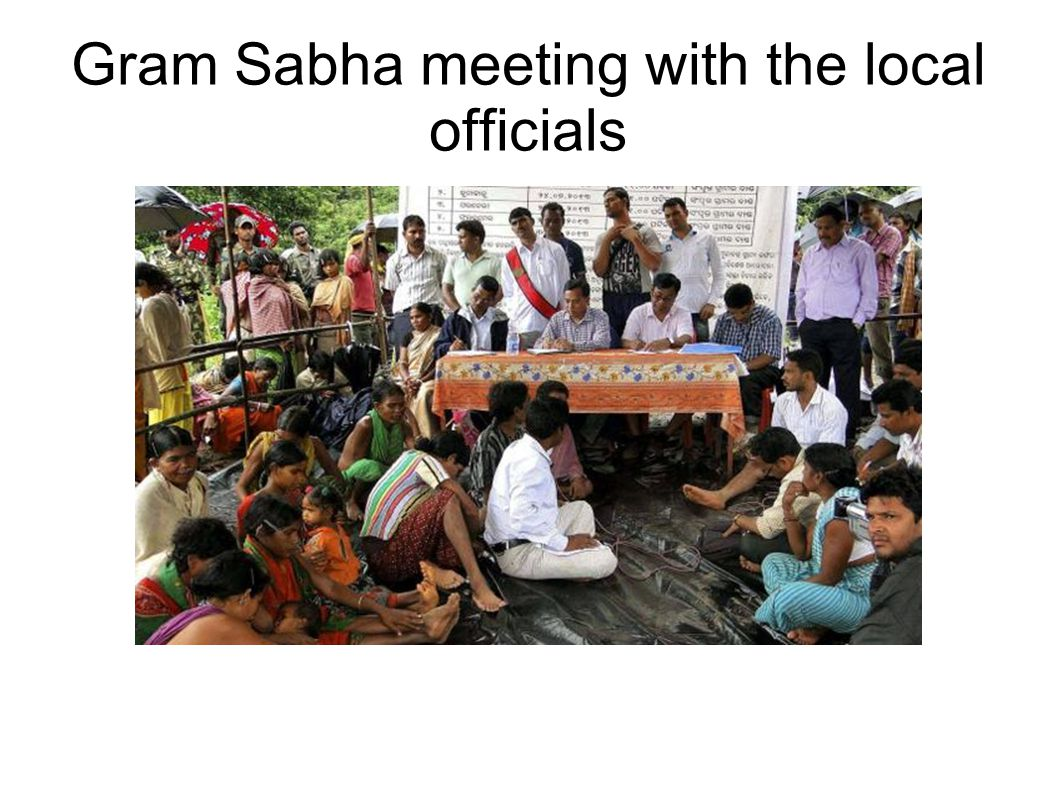 Gram Sabha meeting with the local officials