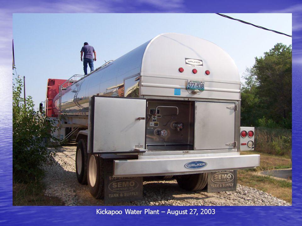 Kickapoo Water Plant – August 27, 2003