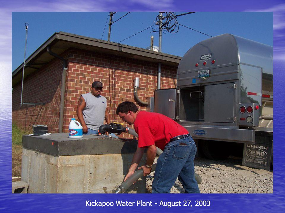Kickapoo Water Plant - August 27, 2003