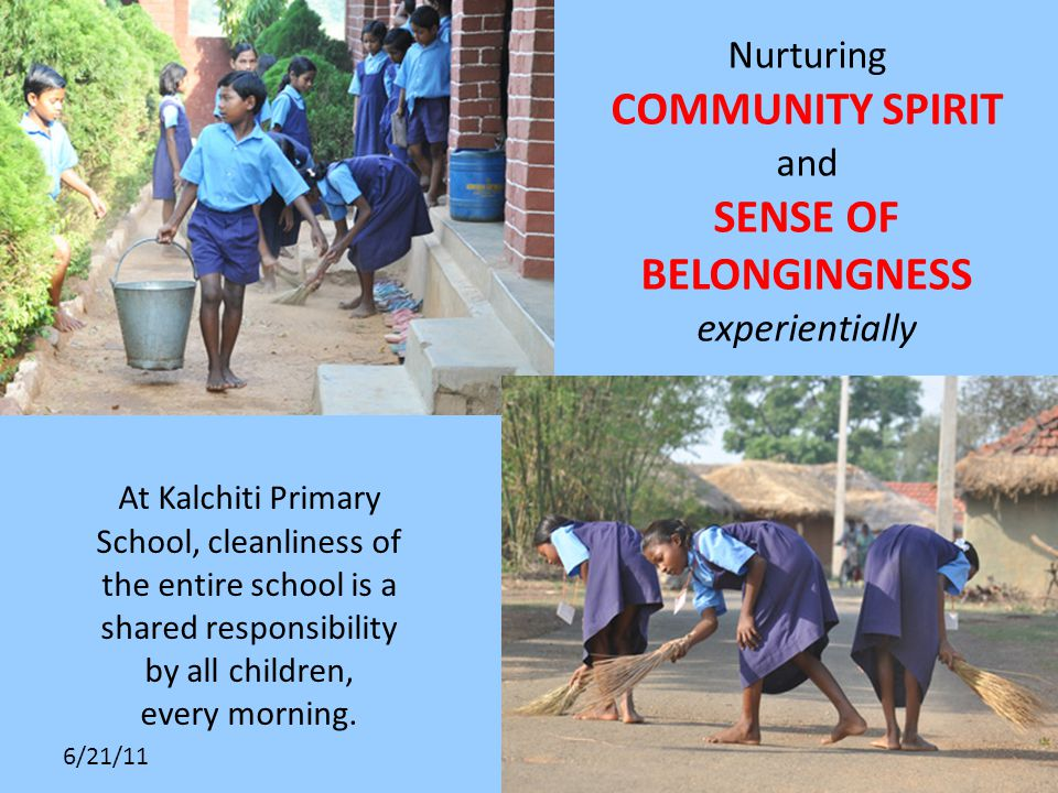 6/21/11 At Kalchiti Primary School, cleanliness of the entire school is a shared responsibility by all children, every morning.