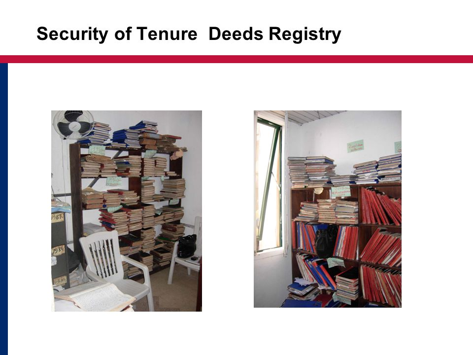 Issues: Security of Tenure