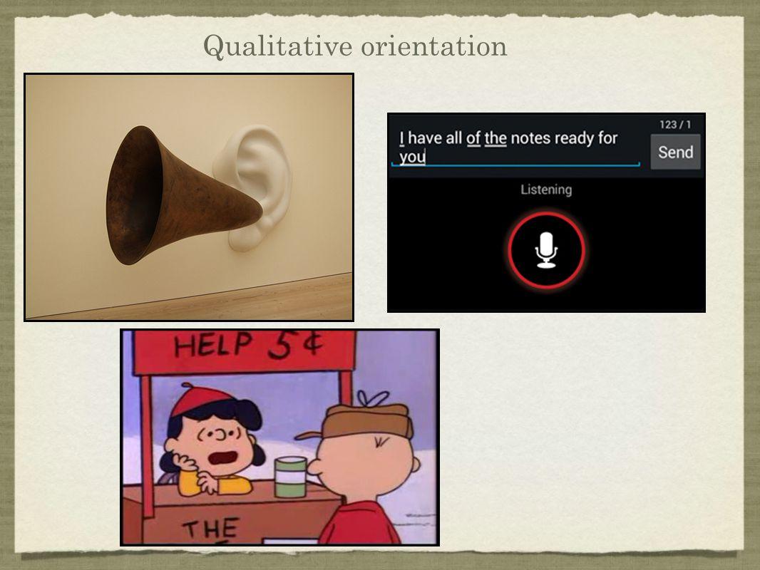 Qualitative orientation