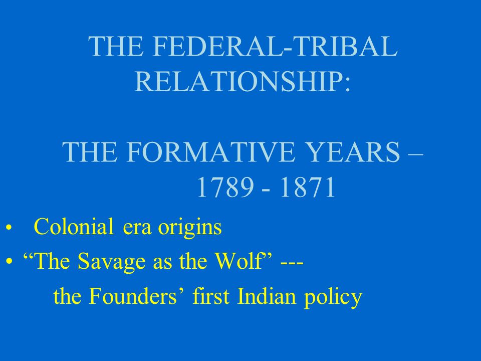 THE CONSTITUTION OF THE UNITED STATES AND THE INDIAN NATIONS