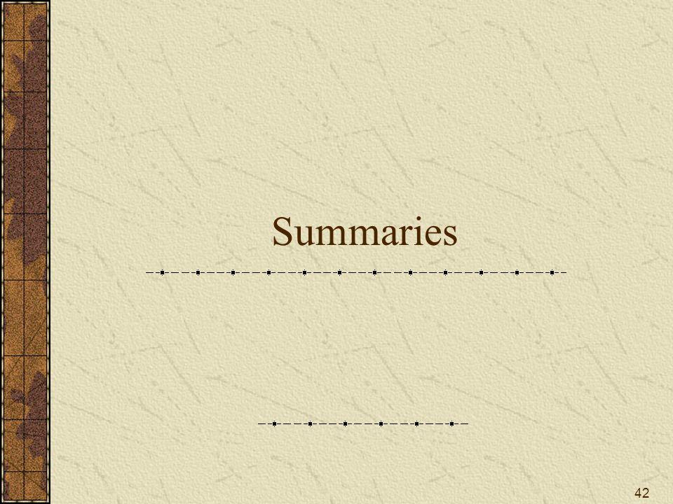 42 Summaries