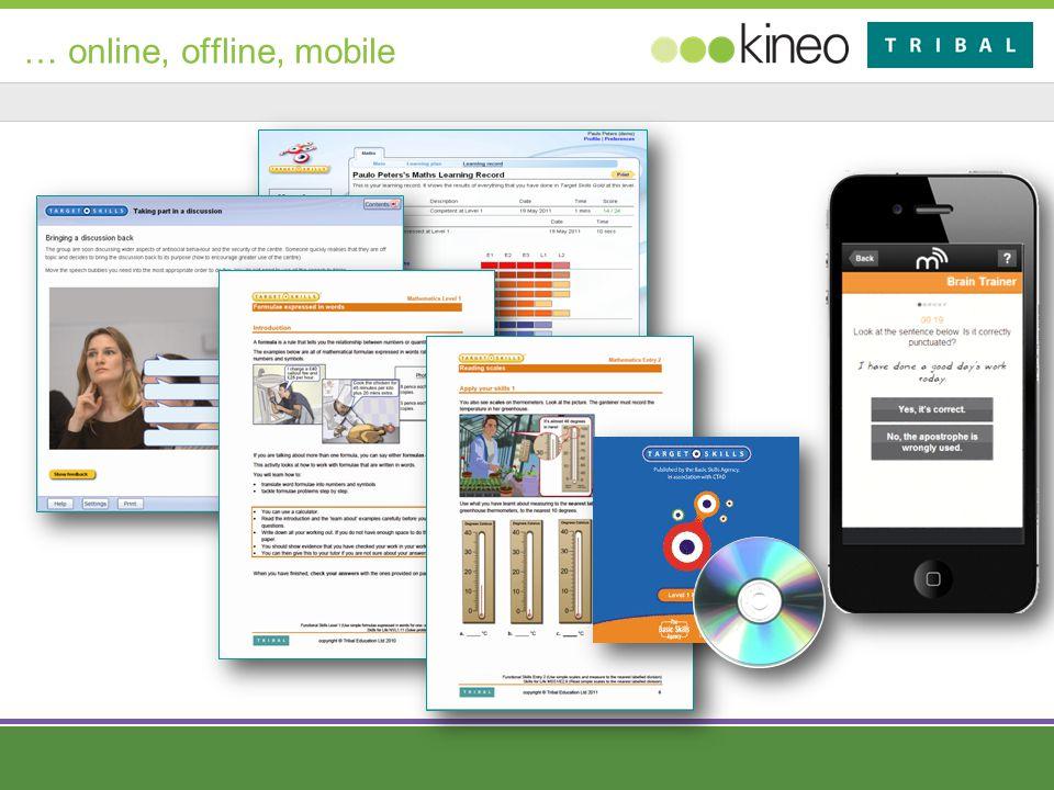 … online, offline, mobile