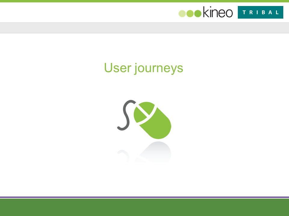 User journeys